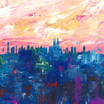 Barcelona Skyline by Markus Bleichner