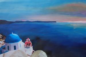 Beautiful Santorini Sunset in Oia Greece by Markus Bleichner
