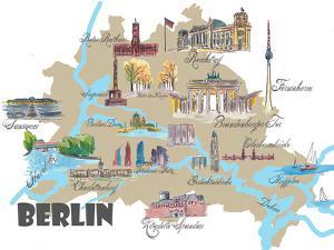 Berlin Map by Markus Bleichner