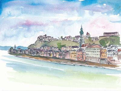 Burghausen Bavaria With Castle And Old Town by Markus Bleichner