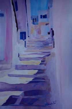 Enchanting Mykonos Greece View with Stairs by Markus Bleichner