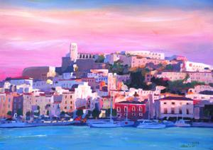 Ibiza Eivissa Old Town And Harbour Pearl Of The Mediterranean by Markus Bleichner