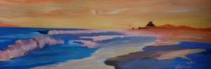 Long Island Beach Scene - Hamptons Beach Waves by Markus Bleichner