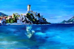Malcesine with Castello Scaligero by Markus Bleichner