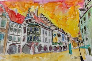 Munich Hofbrauhaus Sunset Am Platzl by Markus Bleichner