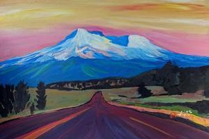 Mystical Mt Shasta White Mountain In Cascades Rang by Markus Bleichner