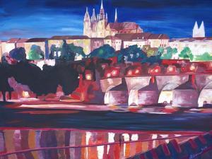 Prague - Hradschin with Charles Bridge by Markus Bleichner