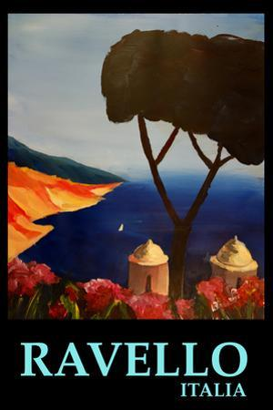 Ravello Salerno Italy View of Amalfi Coast Retro by Markus Bleichner