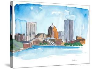 Rochester New York Skyline by Markus Bleichner
