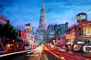 San Francisco - Columbus St with Cafe Vesuvio by Markus Bleichner