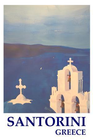 Santorini, Greece - View from Oia Retro Style