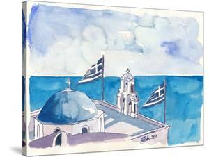 Santorini Oia Greece by Markus Bleichner