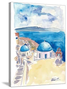 Santorini Oia View Mediterranean Dream by Markus Bleichner