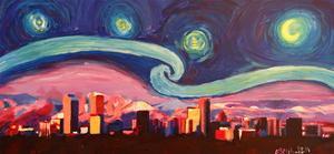Starry Night in Denver Van Gogh Inspirations by Markus Bleichner
