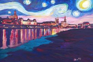 Starry Night in Dresden - Van Gogh Inspirations by Markus Bleichner