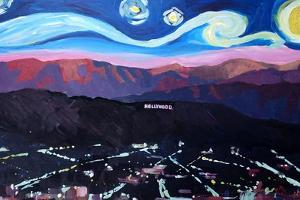 Starry Night in Hollywood Van Gogh Inspirations by Markus Bleichner