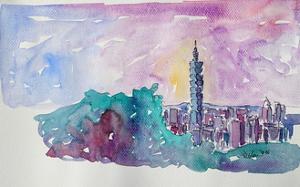 Taipei Taiwan Skyline with 101 Tower by Markus Bleichner
