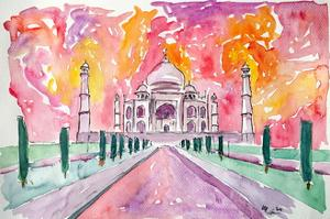 Taj Mahal - Colorful Crown Of The Palace And Love by Markus Bleichner