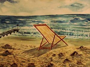The Beach Chair by the Sea by Markus Bleichner