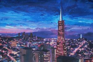 Transamerica Pyramid at San Francisco Night by Markus Bleichner