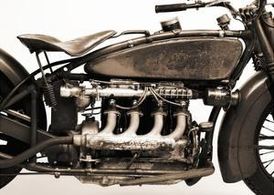 Detail of 4 cylinder Indian Ace, 1929 by Markus Cuff