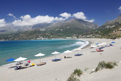 Bay and Beach of Plakias, South Crete, Crete, Greek Islands, Greece, Europe by Markus Lange