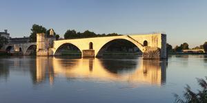 Bridge St. Benezet over Rhone River at Sunset, Provence-Alpes-Cote D'Azur by Markus Lange