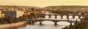 Bridges over the Vltava River Including Charles Bridge by Markus Lange