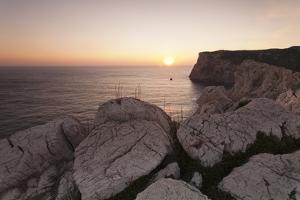 Capo Caccia at Sunset, Province Nurra, Sardinia, Italy, Mediterranean, Europe by Markus Lange