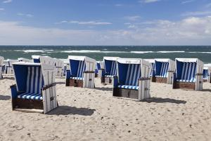 Chairs on the Beach of Westerland, Sylt, North Frisian Islands, Schleswig Holstein, Germany by Markus Lange