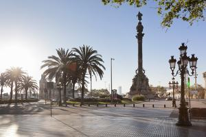 Columbus Monument (Monument a Colom), Placa del Portal de la Pau, Barcelona, Catalonia, Spain, Euro by Markus Lange