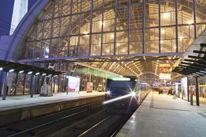 Incoming Train, Alexanderplatz S Bahn Station, Berlin, Germany, Europe by Markus Lange