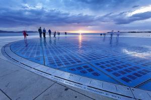 Installation Greetings to the Sun by Nikola Basic at Sunset, Zadar, Dalmatia, Croatia, Europe by Markus Lange