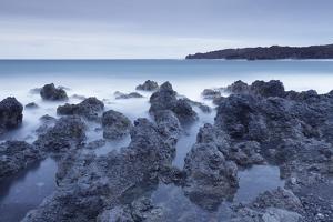 Lava coast near Los Hervideros, Montanas del Fuego, Parque Natinal de Timanfaya, Lanzarote, Spain by Markus Lange