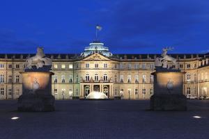 Neues Schloss Castle at Schlossplatz Square, Stuttgart, Baden Wurttemberg, Germany, Europe by Markus Lange