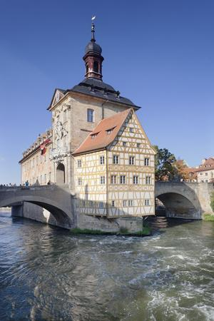 Old Town Hall, UNESCO World Heritage Site, Regnitz River, Bamberg, Franconia, Bavaria, Germany