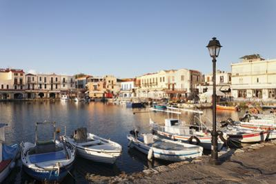 Old Venetian Harbour, Rethymno (Rethymnon), Crete, Greek Islands, Greece, Europe by Markus Lange