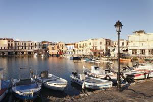 Old Venetian Harbour, Rethymno (Rethymnon), Crete, Greek Islands, Greece, Europe by Markus Lange