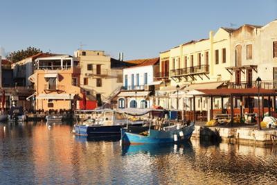 Old Venetian Harbour, Taverns on Seaside, Rethymno (Rethymnon) by Markus Lange