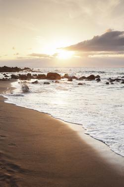 Playa Des Ingles, Beach, La Playa, Valle Gran Rey, La Gomera, Canary Islands, Spain, Atlantic by Markus Lange