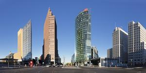 Potsdamer Platz Square with DB Tower, Sony Center and Kollhoff Turm Tower, Berlin, Germany by Markus Lange