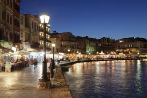 Promenade at Venetian Port, Chania, Crete, Greek Islands, Greece, Europe by Markus Lange