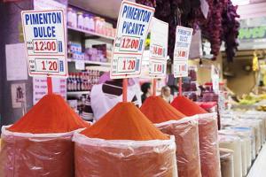 Pyramid of Spices, Mercado Centra (Central Market), Valencia, Comunidad Valencia, Spain, Europe by Markus Lange