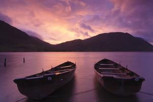 Rowing Boats on Crummock Water at Sunset by Markus Lange