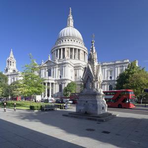St. Paul's Cathedral, and Red Double Decker Bus, London, England, United Kingdom, Europe by Markus Lange