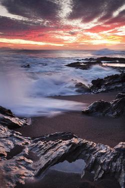 Sunset at the Beach Puerto De La Pena Ajuy, Fuerteventura, Canary Islands, Spain, Atlantic, Europe by Markus Lange