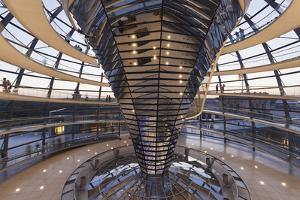 The Dome by Norman Foster, Reichstag Parliament Building at sunset, Mitte, Berlin, Germany, Europe by Markus Lange