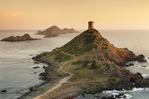 Tour De La Parata and the Islands of Iles Sanguinaires, Corsica, France, Mediterranean, Europe by Markus Lange