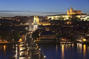 View over the River Vltava to Charles Bridge and the Castle District by Markus Lange