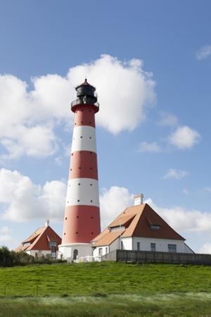 Westerheversand Lighthouse, Westerhever, Eiderstedt Peninsula, Schleswig Holstein, Germany, Europe by Markus Lange